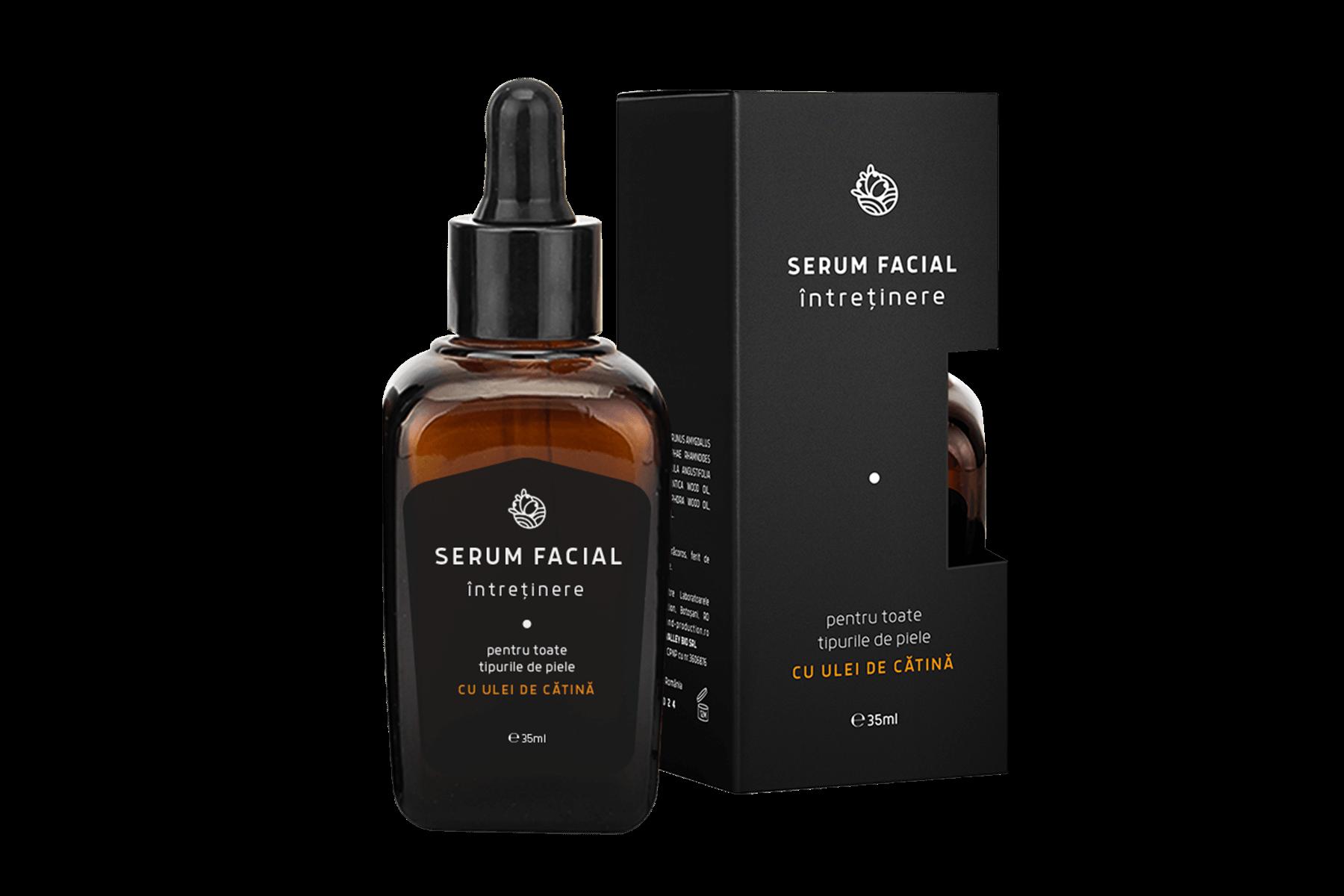 Serum facial pentru întreținere cu ulei de cătină